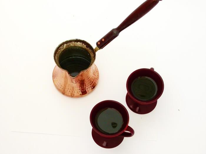 قهوه با قوری قهوه جوش