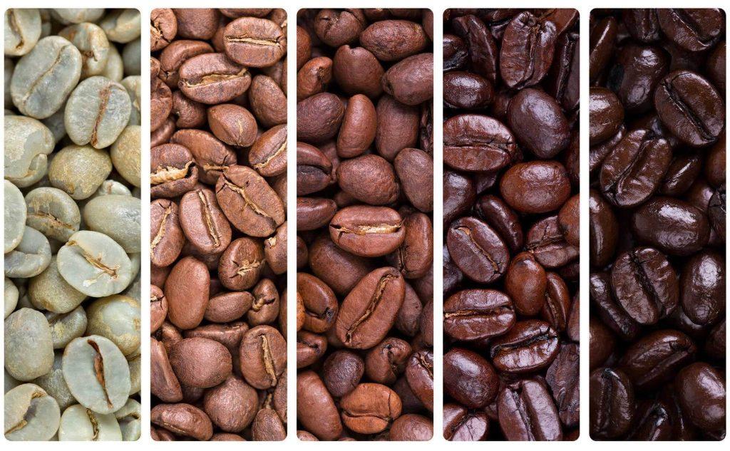 انواع محتلف رست قهوه