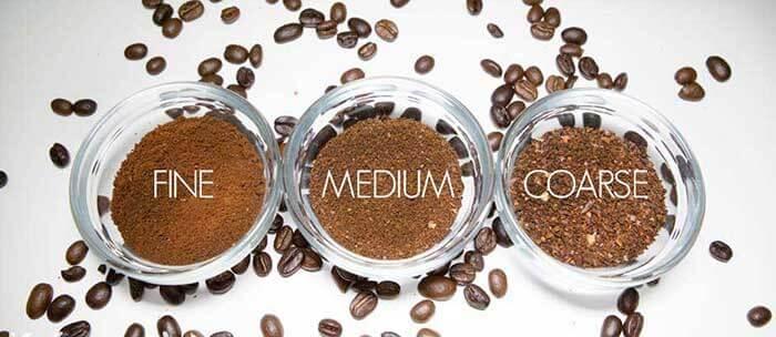 انواع مختلف قهوه آسیاب شده