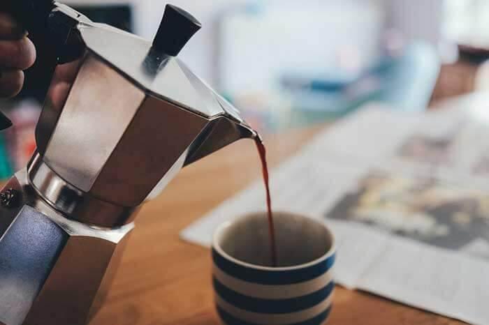 تهیه قهوه اسپرسو با موکاپات