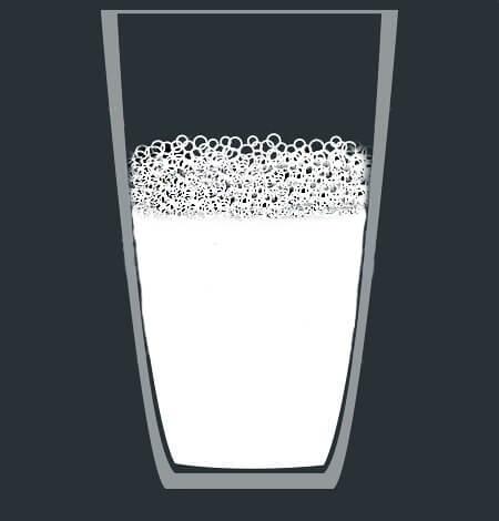 شیر و فوم شیر