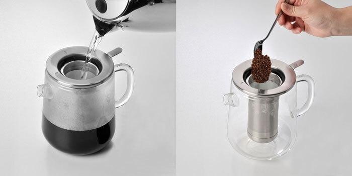 تهیه قهوه بدون ابزار