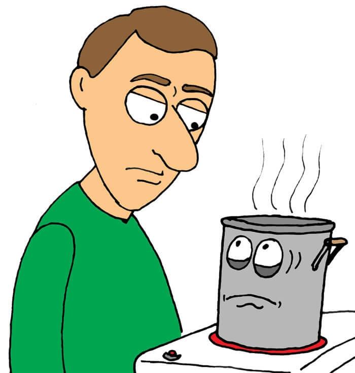 آماده شدن قهوه