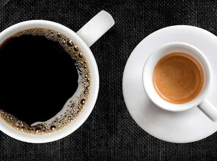 تفاوت میزان کافئین اسپرسو وفرانسه