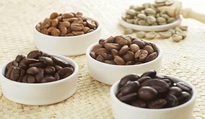 انواع رست ها و تاثیر آن بر کافئین
