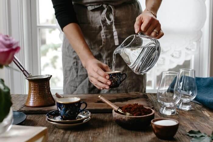 نسبت آب و قهوه ترک