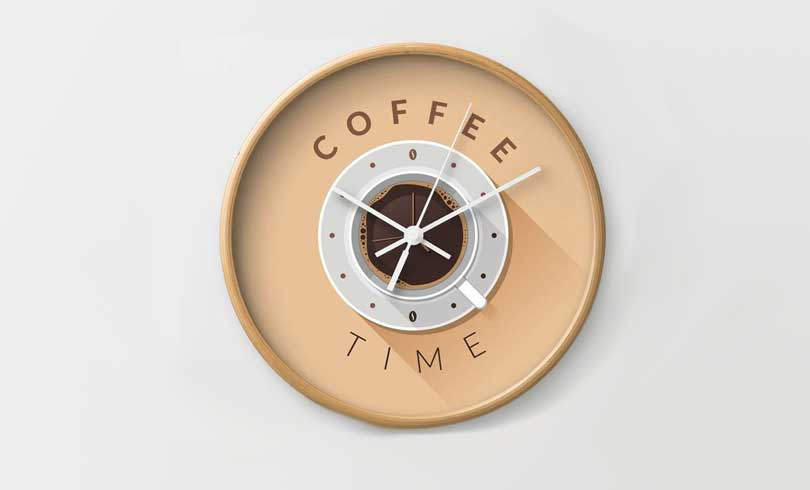 time drink coffee