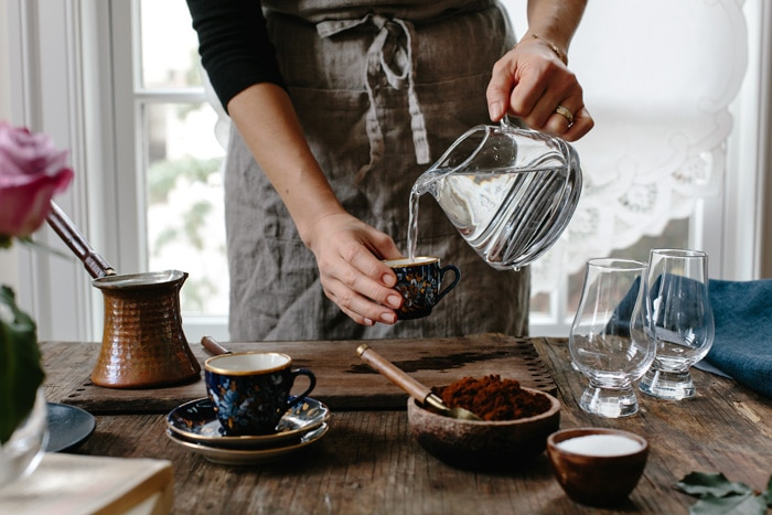 درست کردن قهوه ترک