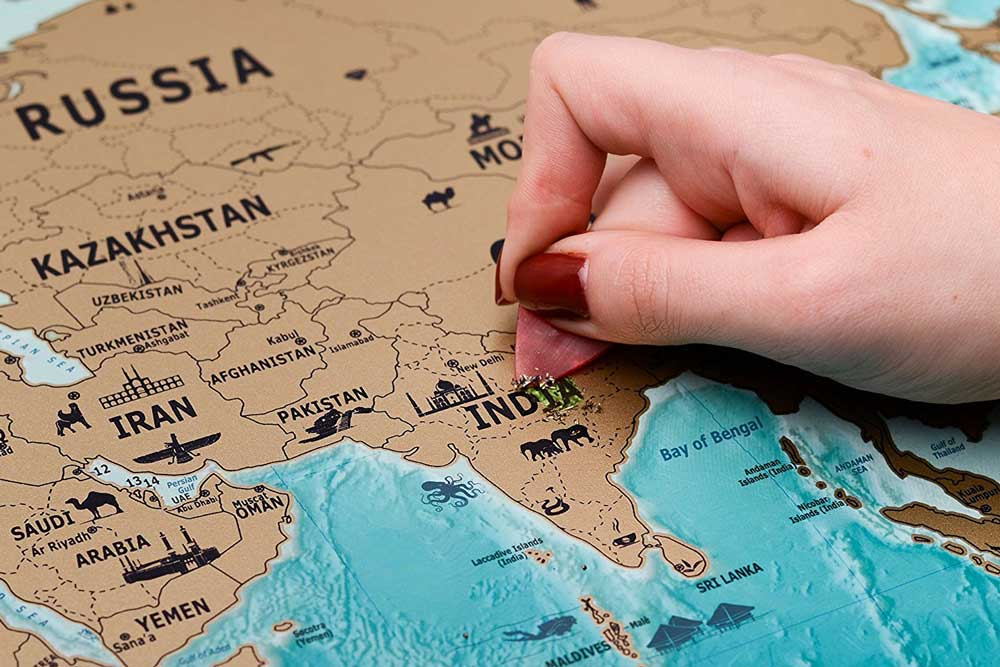 نقشه کشور هند
