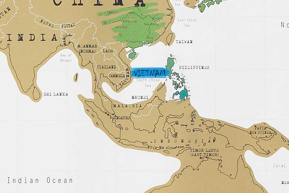 نقشه کشور ویتنام