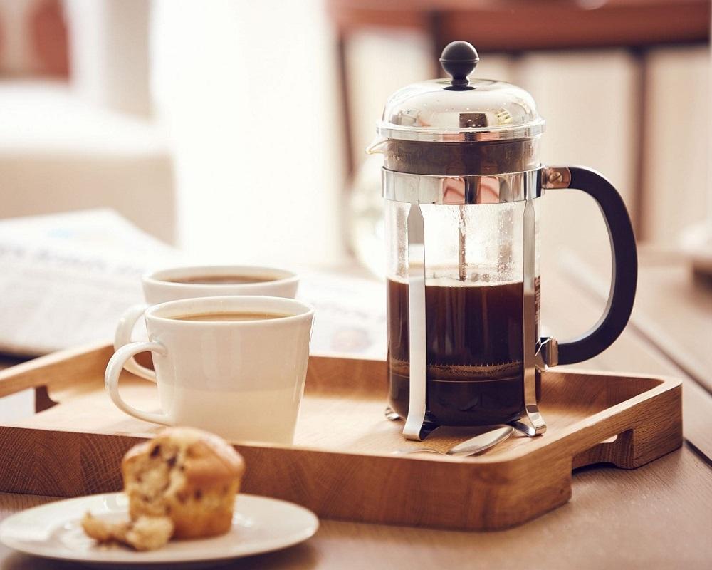 فرنچ پرس برای تهیه قهوه غلیظتر