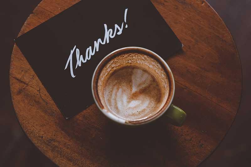 تشکر قهوه