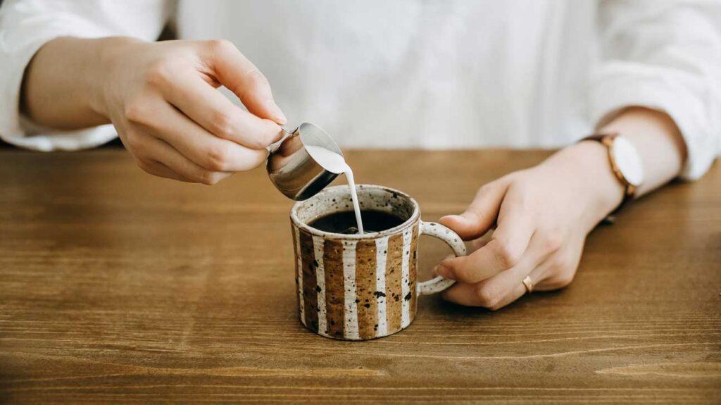 شیر قهوه چربی