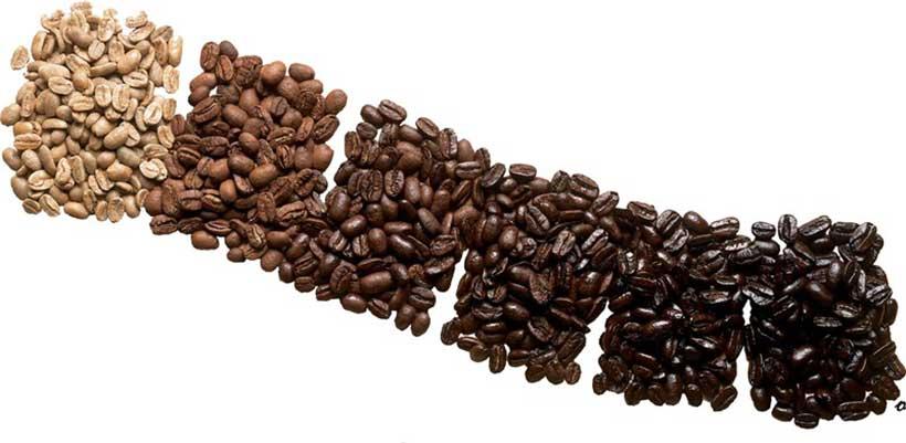شش نوع رست مختلف قهوه